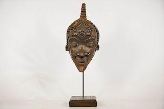 """Bene Lulua Face Mask 14"""" on Custom Stand"""