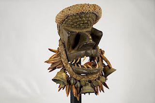 "Dan Kran or Guere War Mask 14"""