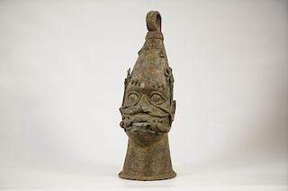 """Benin Bronze Head 16"""""""