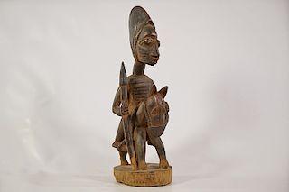 "Yoruba Horse and Rider Figure 17"""