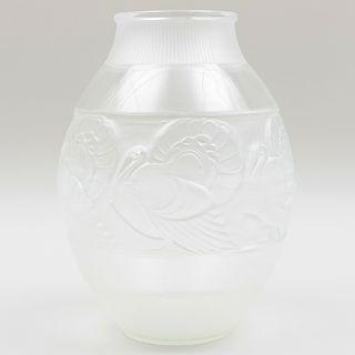 Sabino Art Deco Clear Glass Vase