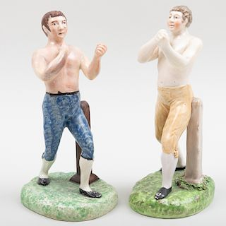Two Staffordshire Pearlware Figures of Tom Cribb