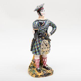 Staffordshire Pearlware Figure of a Scotsman