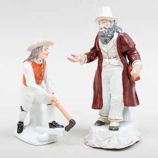 Staffordshire Figure of a Beggar and a Wood Splitter