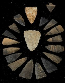 Grp: 19 Arrowheads from Mendez Mexico
