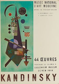 Kandinsky Poster and George Grosz Lithograph