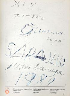 OLYMPIC GAMES SARAJEVO-CY TWOMBLY-James Rosenquist