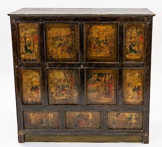 A CHINESE WOODEN CABINET