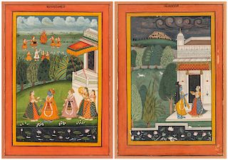 A PAIR OF INDIAN PAINTINGS, 19TH CENTURY