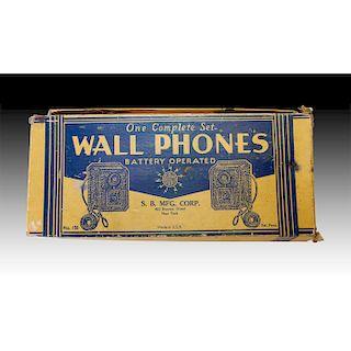 COMPLETE SET OF S.B. MFG. CORP. WALL PHONE INTERCOMS