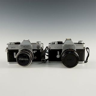 PAIR OF VINTAGE CANON FX & TX SLR CAMERA'S