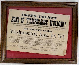 Sons of Temperance Hand Bill