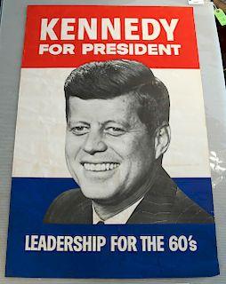 Large JFK Campaign Poster