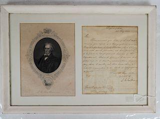 John C. Calhoun Letter, 1822, Department of War