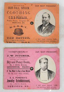 Garfield & Hancock 1880 Metamorphic Cards