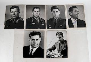 Soviet Vostok & Soyuz Cosmonaut Signed Photographs