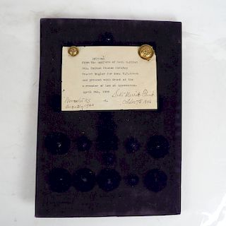 2 Civil War Union Embossed Brass Buttons