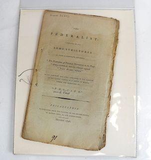 The Federalist, November 1796