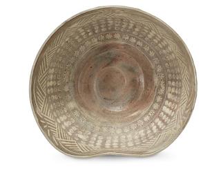 A Large Mishima Ware Studio Pottery Bowl,
