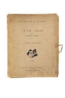 """Raynal, Maurice. Les Maîtres du Cubisme. Juan Gris. Vingt Tableaux. Paris: Editons de """"L´Effort Moderne"""", 1920. 20 láminas."""
