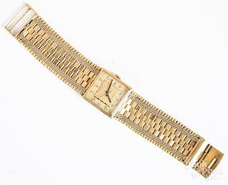 Juvenia 18K yellow gold wristwatch