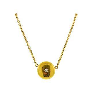 18K  20K Gold Diamond Pendant Necklace
