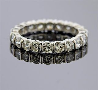 Tiffany & Co Platinum Diamond Eternity Band Ring