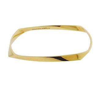 Tiffany & Co Gehry 18k Gold Bangle Bracelet