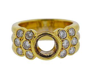 18K Gold Diamond Band Ring Mounting