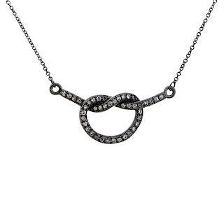 Kimberly McDonald 18K Gold Diamond Love Knot Necklace Pendant