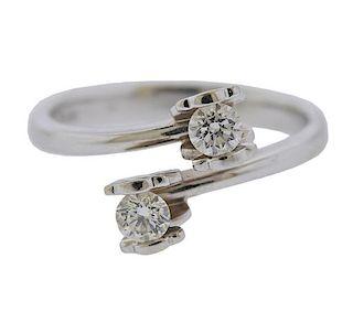 Tous 18K Gold Diamond Bypass Ring