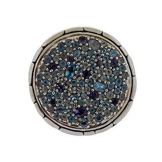 John Hardy Sterling Silver Topaz Iolite Ring