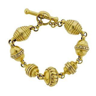 Kieselstein Cord 18K Gold Toggle Bracelet
