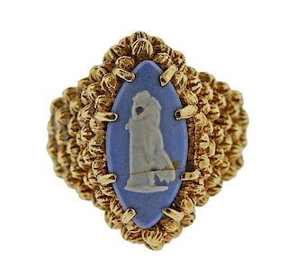Wedgwood Cameo 14k Gold Ring