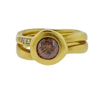 H. Stern 18K Gold Fancy Diamond Ring