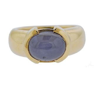 10.80ct Star Sapphire Cabochon 14k Gold Ring