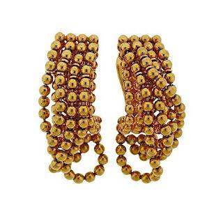Cartier Draperie De Decolette 18K Gold Earrings