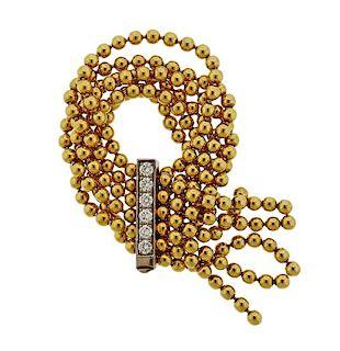 Cartier Draperie De Decolette 18K Gold Diamond Ring