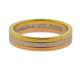 Cartier Trinity 18k Gold Tri Color Band Ring