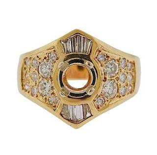 14K Gold Diamond Ring Mounting
