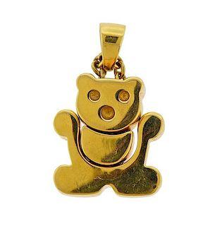 18k Gold Movable Bear Pendant
