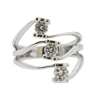 Tous 18K Gold Diamond Ring