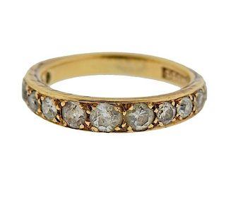 Antique 14k Gold Diamond Band Ring