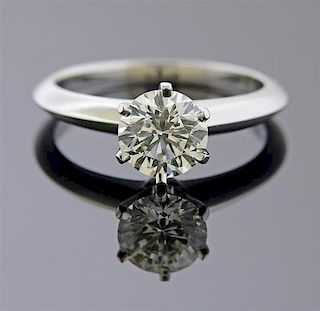Tiffany & co Platinum 1.30ct Diamond  Engagement Ring