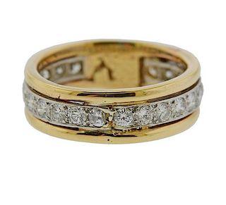 Platinum 14k Gold Diamond Wedding Band Ring