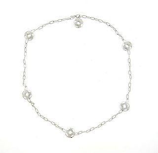 Cartier Pasha 18k Gold Diamond Station Necklace