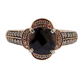 LeVian Le Vian 14k Rose Gold Fancy Diamond Ring