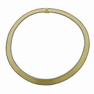 Buccellati 18k Two Color Gold Necklace