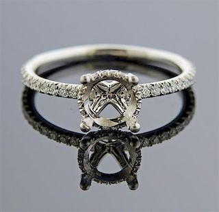 14k Gold Diamond Halo Engagement Ring