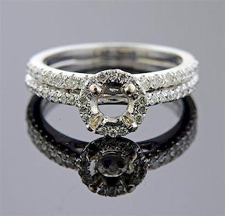 14k Gold Diamond Engagement Wedding Bridal Ring Setting